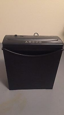 NoviTech Black 6 Sheet Paper Shredder