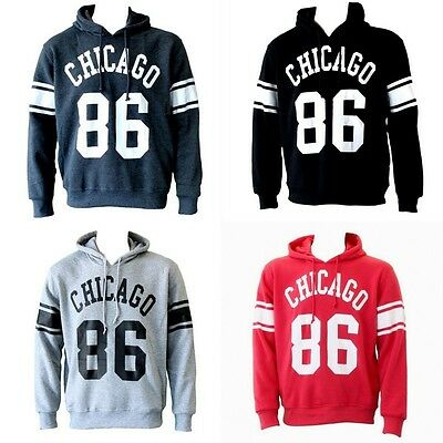 NEW Men's Adult Unisex Hoodie Jumper Pullover Casual Sports - Chicago 86