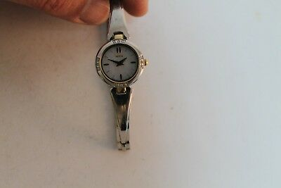 Antique Vintage Old Swiss Made Citizen Eco-Drive Woman Watch 12Diamonds
