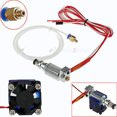 3D Printer J-head Hotend with fan For 1.75mm Bowder extruder 0.4mm nozzle Kossel