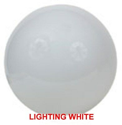 """Lexan Globe 24"""" White Sphere Unbreakable Polycarbonate With 9.187""""  Neck  S11708"""