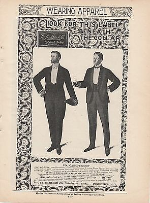 1901 Stein-Bloch Co Rochester NY Ad: Evening Dress Suits Dinner Coats to Match