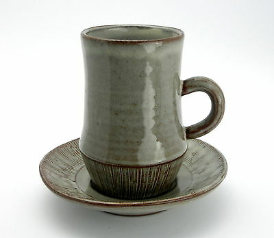 Creigiau Studio Pottery Coffee Cup and Saucer ..Welsh Pottery