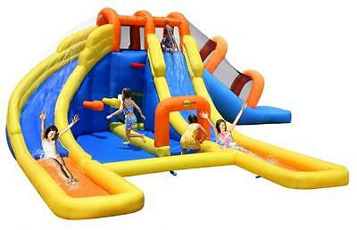 Duplay Happy Hop Mega Fun 24ft Water Park Bouncy Castle Inflatable Water Slide