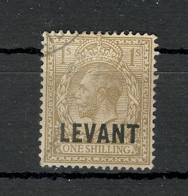 BRITISH LEVANT POSTAGE REVENUE - ONE SHILLING-King George V-1921.