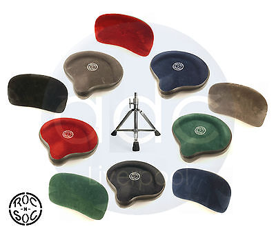 Roc n Soc Motorcycle Drum Throne + Back Rest: Drummer's Stool Deal (All Colours)