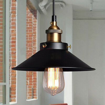 E27 Vintage Industrial Style Retro Metal Pendant Light Ceiling Lamp Lampshade