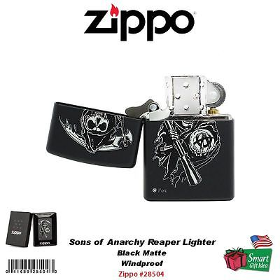 Zippo Sons of Anarchy Reaper Lighter, Black Matte, Windproof #28504