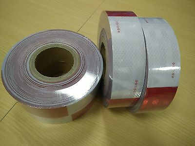 """Conspicuity 2""""x50' APPROVED DOT C2 FMVSS 108 Reflective Truck Trailer ATV Tape"""