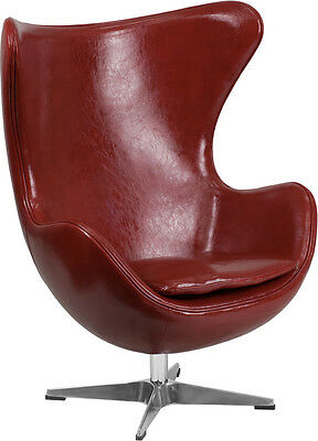 Flash Furniture Cordovan Leather Egg Chair with Tilt-Lock Mechanism, Set of 2