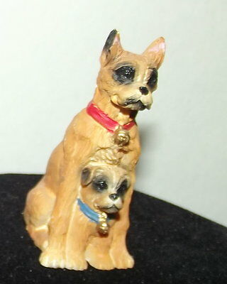Great Dane Marmaduke tiny figurine with puppy miniature Youngs statue