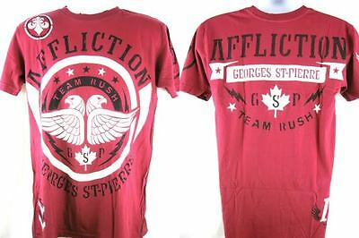 Affliction GSP Concept Georges St Pierre Red T-shirt New