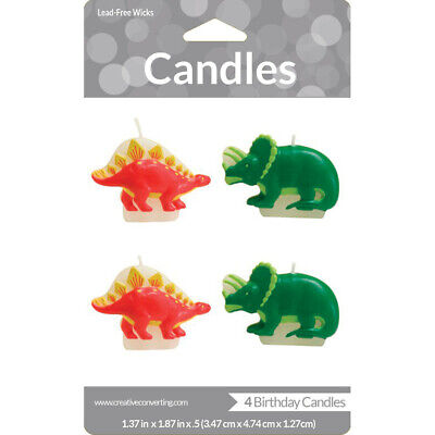 Dinosaur Candles 4 Pack Birthday Party Supplies