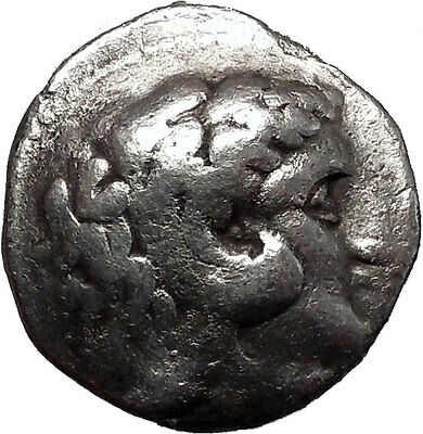 ALEXANDER III the GREAT LARGE Ancient Greek Silver Tetradrachm Coin Zeus i55436