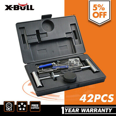 X-BULL 42PCS Tyre Puncture Recovery Repair Kit and 20 CO2 Cartridges Plugs Tube