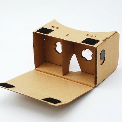 GOOGLE CARDBOARD HEADSET 3D VIRTUAL REALITY VR GOGGLES FOR ANDROID, iPHONE iOS