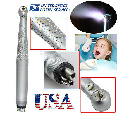 dental High Speed LED Handpiece Standard Push Button 4 hole-USA fit KAVO style