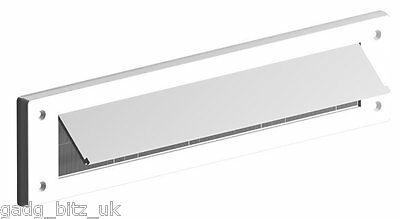 Letter box Internal Cover brush Seal Draught Excluder letterbox White with flap
