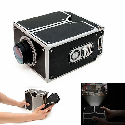 Cardboard Projector FOR Mobile Smart Phone Portable MINI Cinema Movie IPHONE