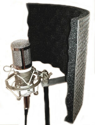 Microphone Screen Isolator Reflection Filter Shield Portable Vocal Booth