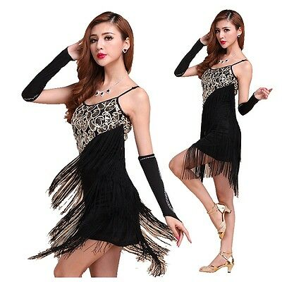 20s Vintage Flapper Fringe Gatsby Charleston Tassel Dress Moulin Rouge Costume