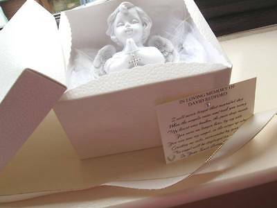 Bereavement Gift -Large Guardian Angel with Cross Ornament - Boxed -Loss of Baby