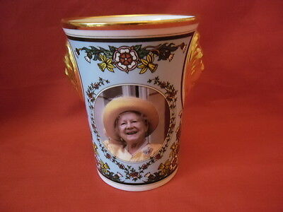 Sutherland, Lion Head Beaker  The Queen Mothers 95th Birthday