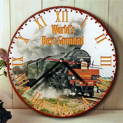 Personalised Flying Scotsman Steam Train Dad Hanging Wall Clock Gift NRC010