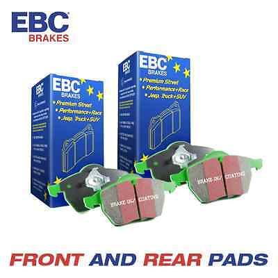 SSANGYONG Kyron EBC Greenstuff Front and Rear Brake Pads 2.7 TD 2006-