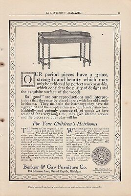 1913 Berkey & Gay Furniture Co Grand Rapids MI Ad: For your Children's Heirlooms