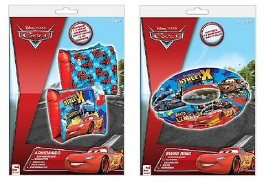 Lot Brassards + Bouee Gonflable Disney Cars