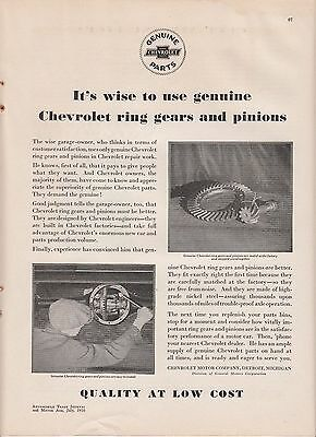 1930 Chevrolet Motor Co Detroit MI Ad: Use Genuine Chevy Ring Gears & Pinions