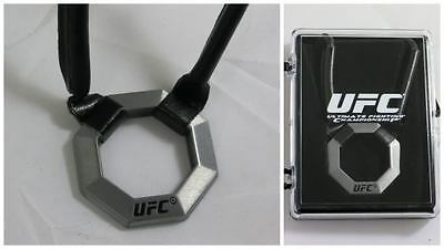 UFC Octagon Pendant with leatherette strap New!