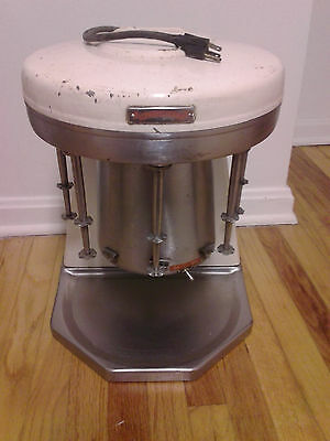 Vintage Milkshake Multimixer Blender 5 Heads Tested All Works Stainless !!