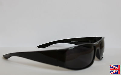"MOD SUNGLASSES ""QUADROPHENIA"" 1970s 1980s SLIM DARK, WRAP AROUND"
