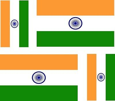 4x  india indian flag decals sticker bike car vinyl helmet