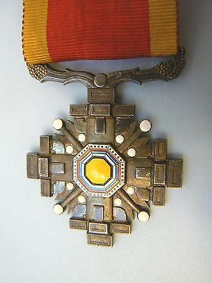 JAPAN EMPIRE,MANCHUKOU,1920s ORDER OFTHE PILLARS OF STATE,sterling,very rare
