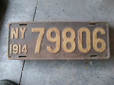 1914 14 New York License Plate Nice Tag Decoration 79 806