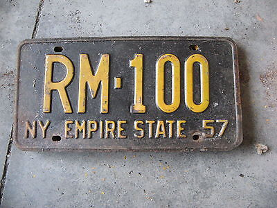 1957 57 New York Ny License Plate Nice Decoration Sweet Rm 100