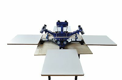 Free Shipping Silk Screen Printing Equipment Table Type 4 Color 4 Station Press