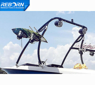 Promotion Reborn Elevate Wakeboard Tower Glossy Black| 5 Years Warranty