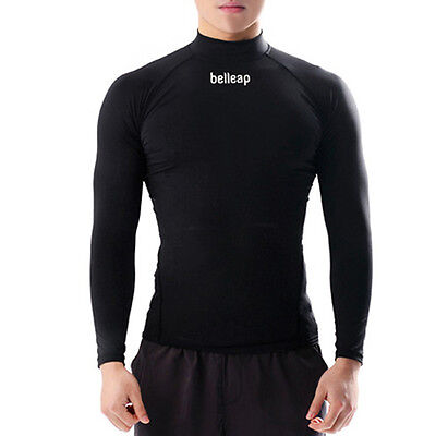 Belleap Rash Guard Mens Compression Long Sleeve Swimwear UV Protection 0533