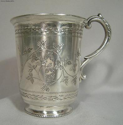 Victorian London 1877 Sterling Silver Handled Cup