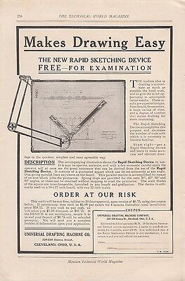 1906 Universal Drafting Machine Co Cleveland OH Ad: New Rapid Sketching Device