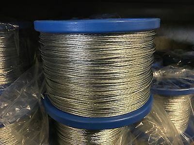 STRANDED FENCING WIRE - 200m Electric Fence  Pigs Sheep 7 Strand HeavyGalvanised