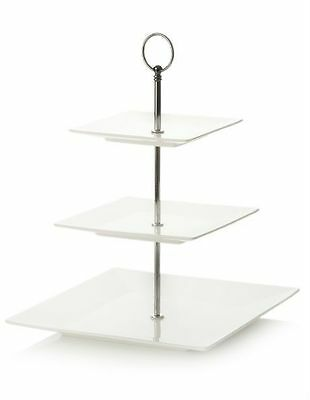 NEW Maxwell & Williams White Basics Cosmopolitan 3 Tier Cake Stand