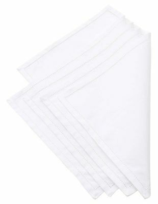 NEW 'Sorrento' Set of 4 Solid Single layer placemat with fagotting White