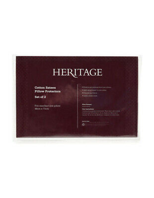 NEW Heritage Cotton Pillow Protector White
