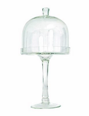 NEW Salt&Pepper Salut Tall Footed Cake Stand with Dome, 38cm White
