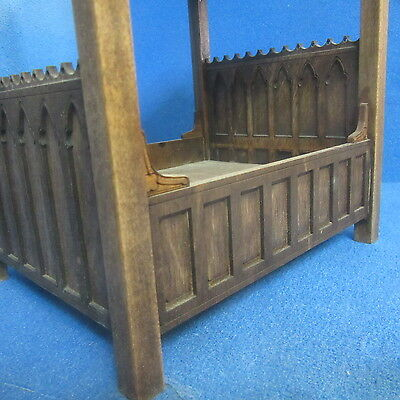 1/12 scale Dolls House  Tudor 4 poster Bed    Signed and Dated Item